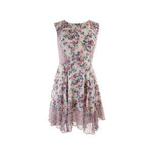 French Connection New White Pink Floral Dress